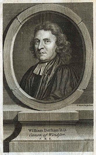 William Derham - 18th century tableau of William Derham