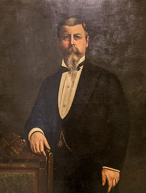 William S. Hayward - Official portrait in Providence City Hall