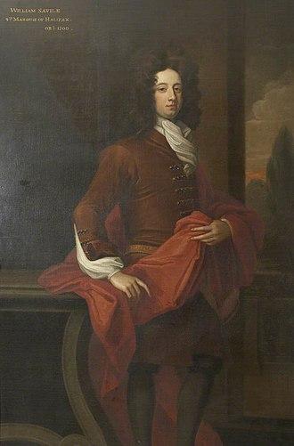 William Savile, 2nd Marquess of Halifax - Image: William Savile Halifax