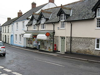 Winsham village in the United Kingdom