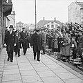 Winston Churchill being greeted by local people in Reykjavik, during his visit to Iceland on his way home from the Atlantic Conference with President Roosevelt, 19 August 1941. H12910.jpg