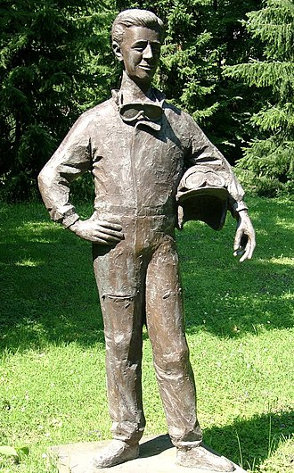 Wolfgang von Trips - A statue of Wolfgang Graf Berghe von Trips in Kerpen, Germany