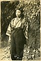 Woman in modern Japanese clothes in Byoritsu.jpg