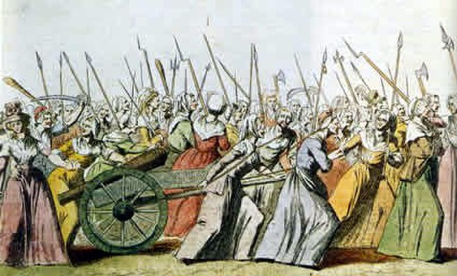 An illustration of the Women's March on Versailles, 5 October 1789 Women's March on Versailles01.jpg