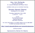 Women for Obama luncheon September 23, 2004.png