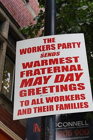 Workers' Party of Ireland - Poster in Belfast, 2010
