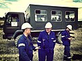 Workers and a Star 944 truck at the Turów Coal Mine 2.jpg