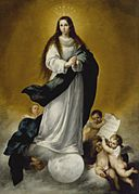 Workshop of Bartolomé Esteban Murillo - The Virgin of the Immaculate Conception - Walters 37286.jpg