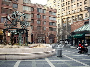 One Worldwide Plaza - Image: Worldwide plaza fountain small