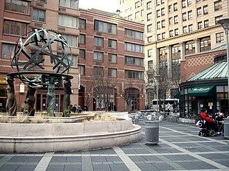 One Worldwide Plaza - Image: Worldwide plaza fountain small