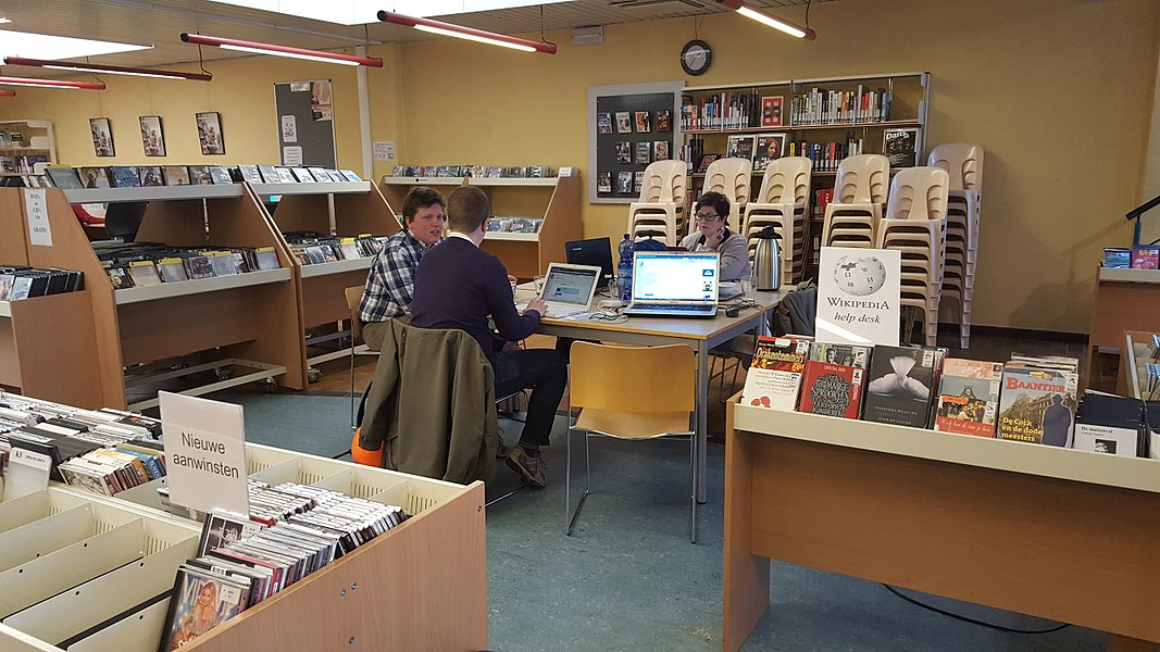 Writing weeks Brussels 2016 in the library in Anderlecht, Brussels, Belgium
