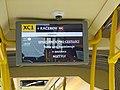 XC1, informační displej ve voze, tento spoj nezastavuje v zastávce Roztyly.jpg