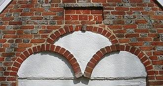 Yeocomico Church - Image: Yeocomico porch emellishment