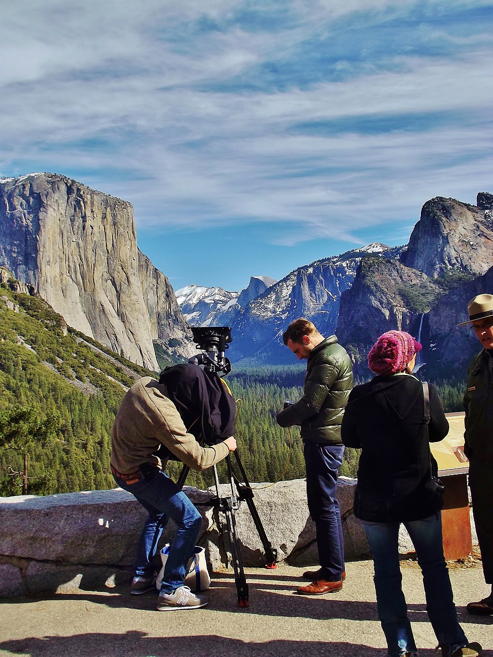 Yosemite Valley Tunnel View filming