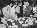 Young employees at T. C. Beirne's department store learning about the store's crockery lines, Brisbane, 1953 (6832063372).jpg