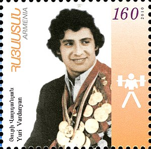 Yurik Vardanyan - Vardanyan on a 2010 Armenian stamp