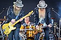 ZZ Top on the Pyramid Stage at Glastonbury 2016 IMG 8565 (27688260930).jpg