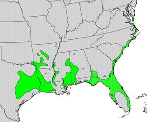 Zanthoxylum clava-herculis - Image: Zanthoxylum clava map