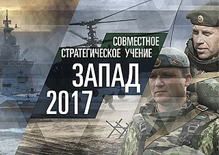 military exercise of the Russian and Belarusian armed forces in the year 2017