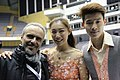 Zhang Yiyi, Wu Nan and Pasquale Camerlengo at the 2016 Four Continents Championships.jpg