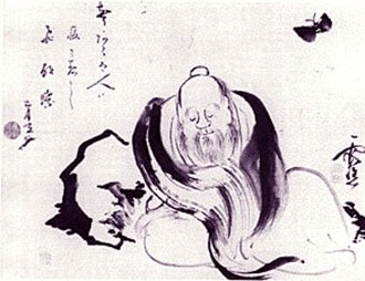 "Zhuangzi (book) - ""Zhuangzi Dreaming of a Butterfly"", by 18th century Japanese painter Ike no Taiga"