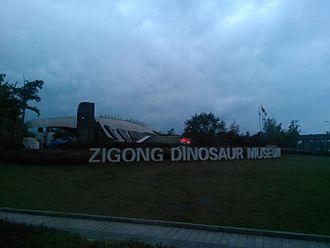 Zigong Dinosaur Museum - Main entrance