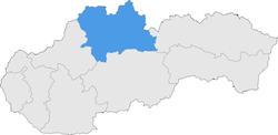 Location of the Žilina Region in Slovakia