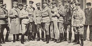 Adam Koc - Riflemen's Organisation meeting in Lwów. Adam Koc third from left.
