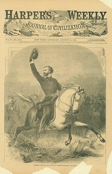 "File:""General Lyon at the Battle of Springfield."".jpg"