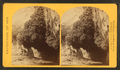 """The Bath,"" a dripping spring in Kanab Cañon. Temperature 69° Fahr, from Robert N. Dennis collection of stereoscopic views 3.png"