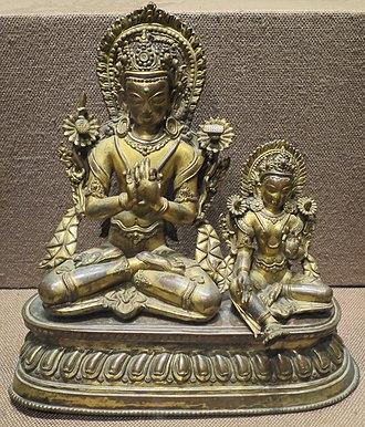 Yoga - 16th century Buddhist artwork in Yoga posture.