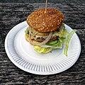 'Gourmet cheeseburger' - Bradleys Original Tea Hut at High Beach, Essex, England 3.jpg
