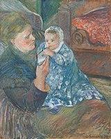 'Julie Pissarro Et Son Fils Ludovic-Rudolphe Dit Rodo' by Camille Pissarro.jpg