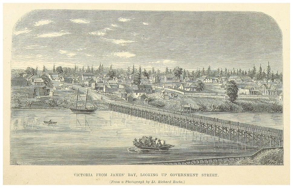 (1862) VICTORIA FROM JAMES' BAY LOOKING UP GOVERNMENT STREET