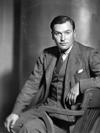 Richard Aldington - (Edward Godfree) Richard Aldington by Howard Coster, 10 x 8 inch film negative, 1931