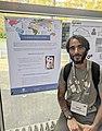 Ángel Obregón junto a su póster en WikidataCon 2019.jpg