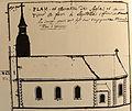 Église de L'Hôpital, plan de 1752 (extérieur).jpg