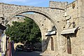 Дворик у крепостной стены. Old town. Rhodos. Greece. Июнь 2014 - panoramio.jpg