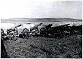 Заплењене немачке хаубице (захвачене вероватно на планини Козјак) у долини Црне реке 1918.jpg