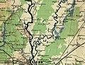 Карта району розташування заповідника Гористе на карті 1917 року.jpg