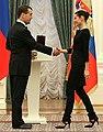 Кремлёвский лидер Дмитрий Медведев и Кремлёвская прима Наталья Балахничёва.jpeg