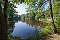 Парк Сергиевка. Большой пруд и мост-плотина перед восточной протокой..jpg