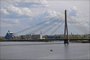 Vanšu Bridge - Image: Рыжскія замалёўкі 27