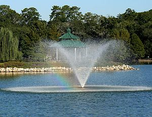 Lake Ella - One of the fountains (September 2006)