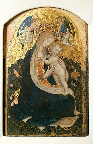 Pastiglia - Madonna of the Quail by Pisanello