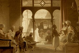 Arab cuisine - Coffeehouse in Cairo, 18th c.