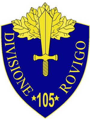 105th Infantry Division Rovigo - 105th Infantry Division Rovigo Insignia
