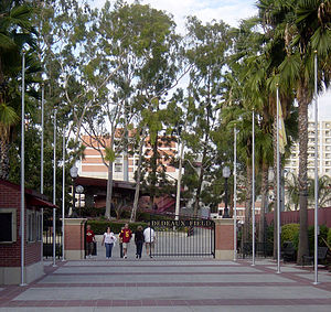 USC Trojans baseball - The entrance to Dedeaux Field sits on Mark McGwire Way.
