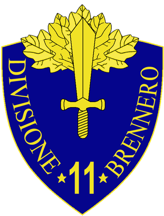 11th Infantry Division Brennero - 11th Infantry Division Brennero Insignia