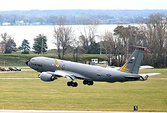 127th Air Refueling Group - A KC-135 Stratotanker lifts off at Selfridge Air National Guard Base, Mich., Nov. 4, 2012.